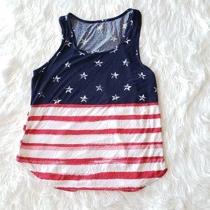 American Flag soft Tee tank top